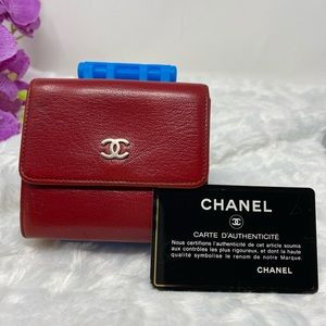 Authentic Preowned Chanel Red Small Wallet